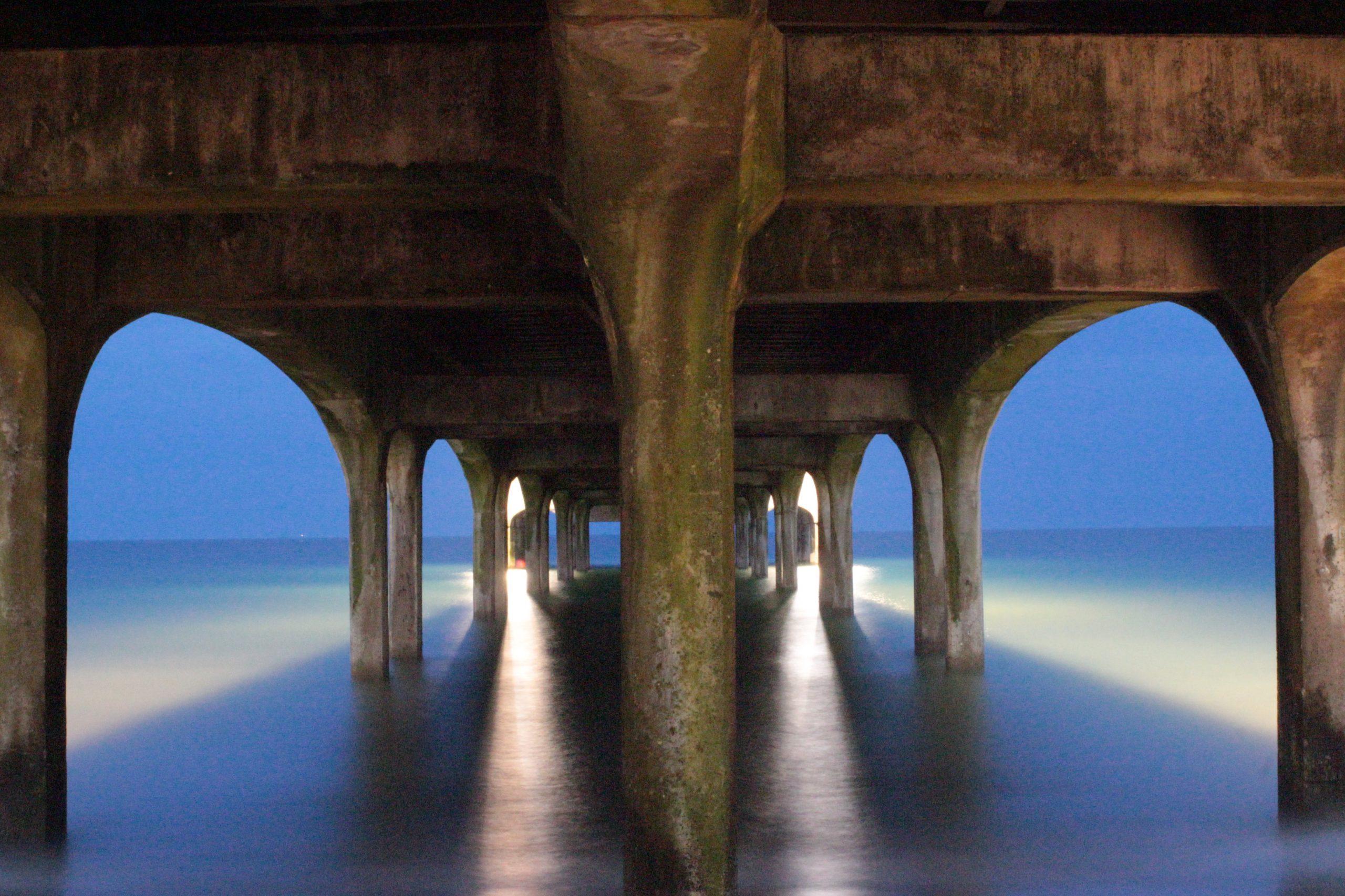 Under Boscombe Pier
