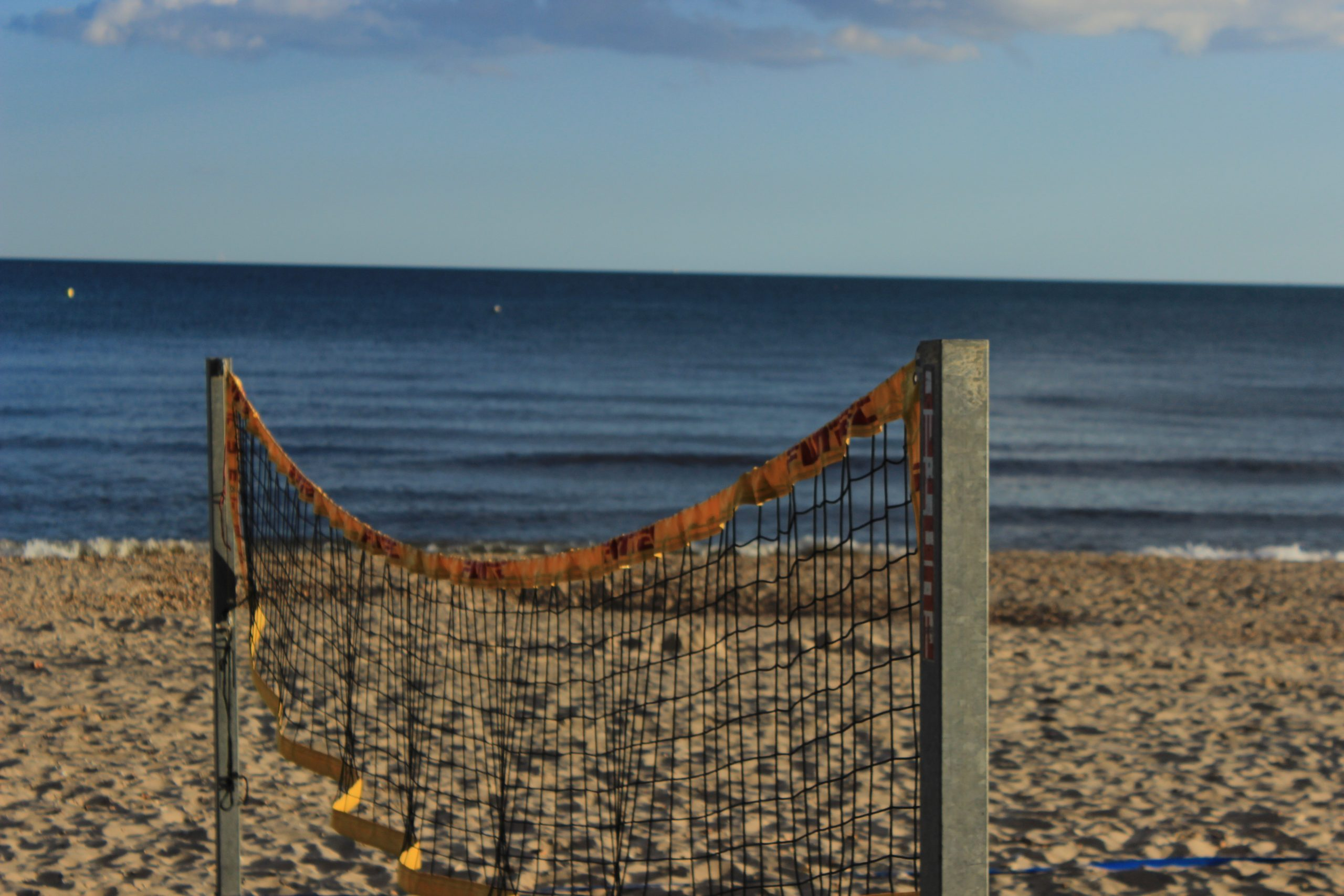 Boscombe beach volleyball net